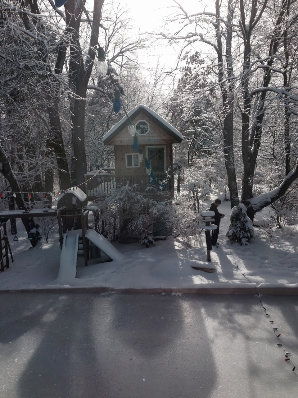 musings from kim k merriment modifications to the backyard ice rink