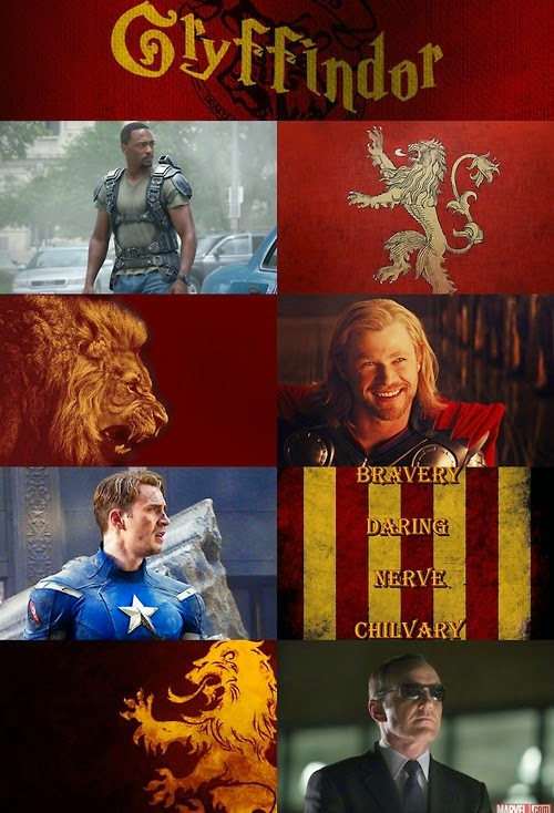personajes de Marvel en Gryffindor