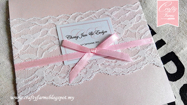 The Westin Hotel Wedding, Lace Pocket Wedding Invitation Card, Luxury Wedding, Kad Kahwin