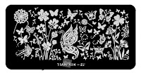 GIVEAWAY!! Win this nail art stamping plate TIAN XIN-22 from Sassy Shelly