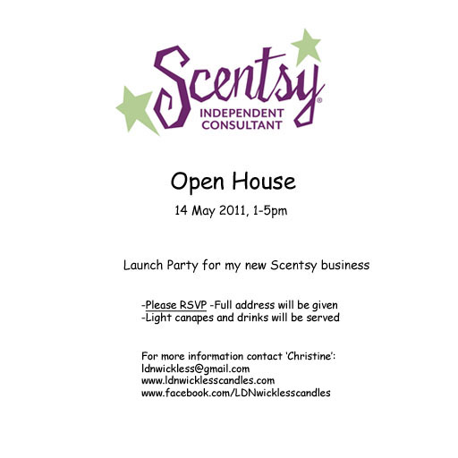 Just Travelin Through Blog Title the same as above – Scentsy Party Invitation