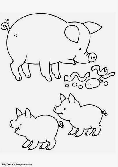Riscos para patchwork e pintura de porquinhos
