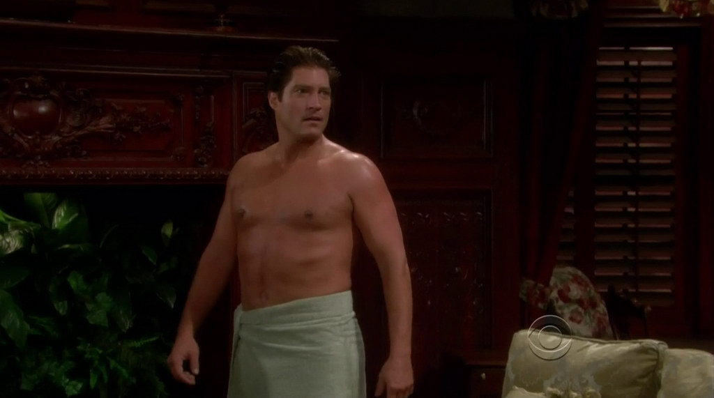 Sean Kanan Shirtless in the Young and the Restless 20120111