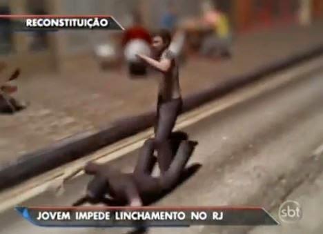 reconstituição linchamento reportagem sbt brasil