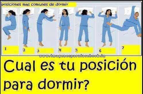 ¿Cual es tu posición para dormir?