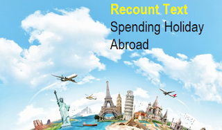 contoh teks recount spending holiday abroad