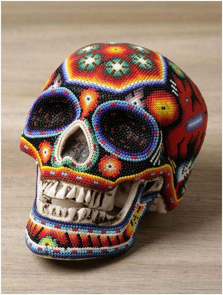 amazing huichol beaded skulls the beading gem s journal