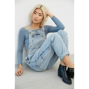 Urban Outfitters Rolla's Trade Overall - Light Blue