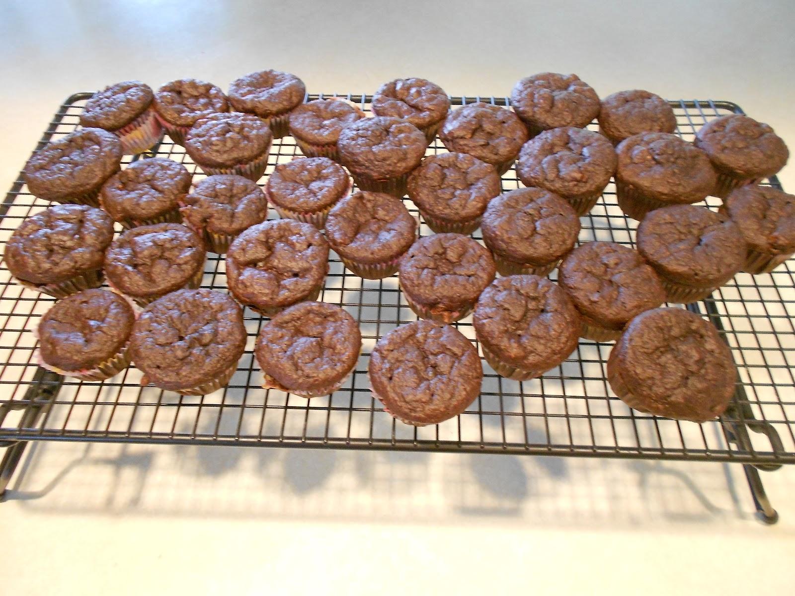 splashes of joy: Mini Chocolate Peanut Butter & Banana Muffins