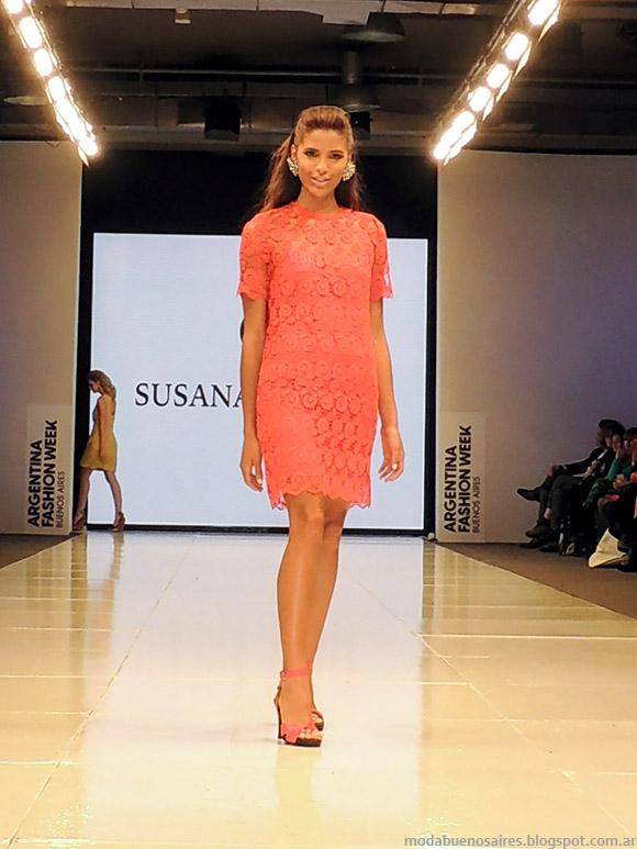 Susana Ortiz primavera verano 2015 vestidos de encaje corto.
