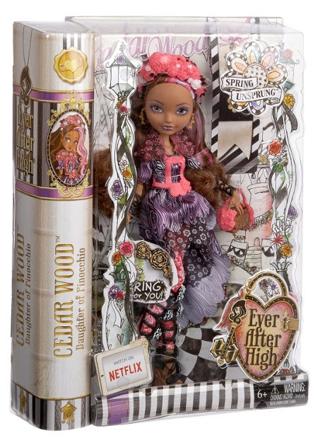 JUGUETES - EVER AFTER HIGH  Spring Unsprung - Cedar Wood | Muñeca   Producto Oficial | Mattel | A partir de 6 años