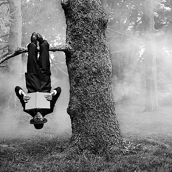 Rodney Smith. Reed Reading Upside Down, 2013