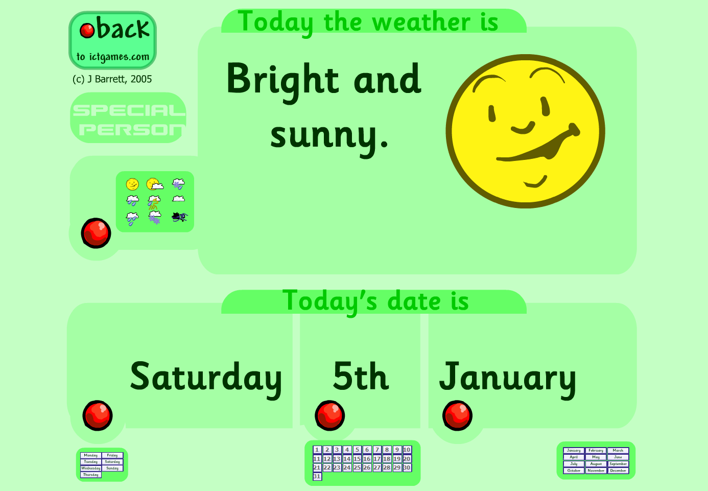 DATE & WEATHER CHART