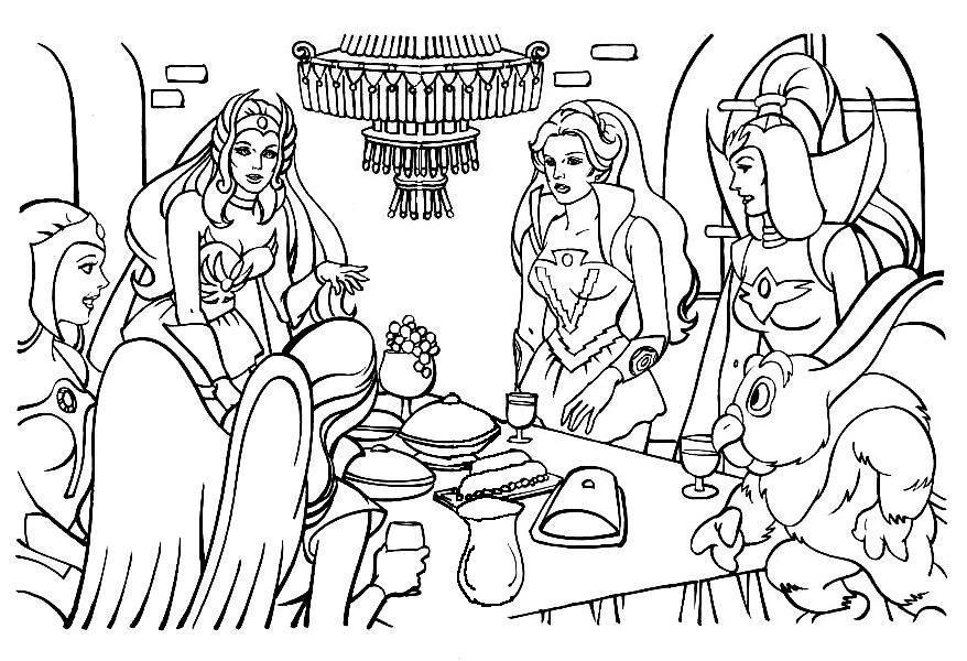 she ra coloring books