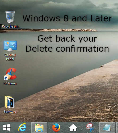 Windows 8 delete confirmation is back
