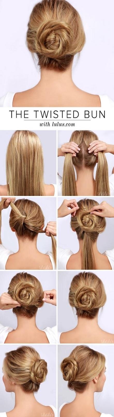 penteado coque simples