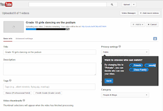 Connect Youtube account to your Gmail account, then upload your video (Not: upload your video copyright )