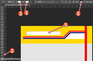 الاداة custom shape tool