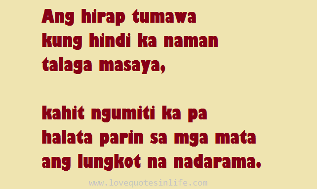 Hugot Funny Love Quotes : Famous Hugot Quotes Tagalog Love Quotes in Life