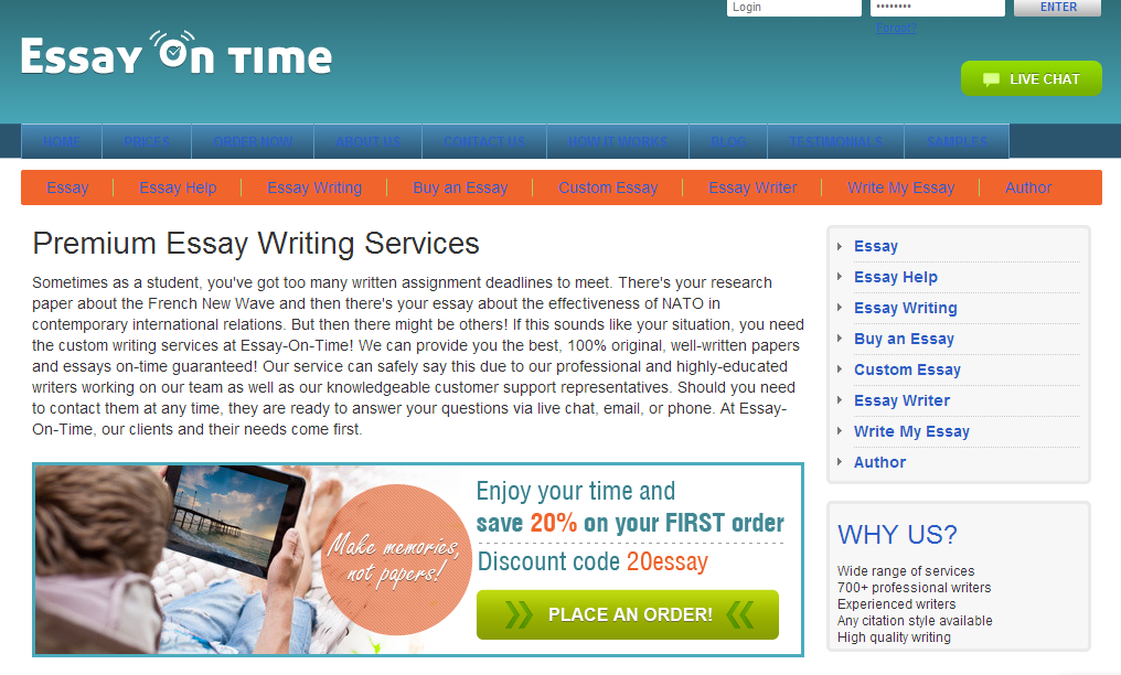 Best essays discount code