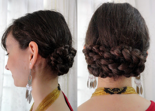 Braided Updo on Curly Hair