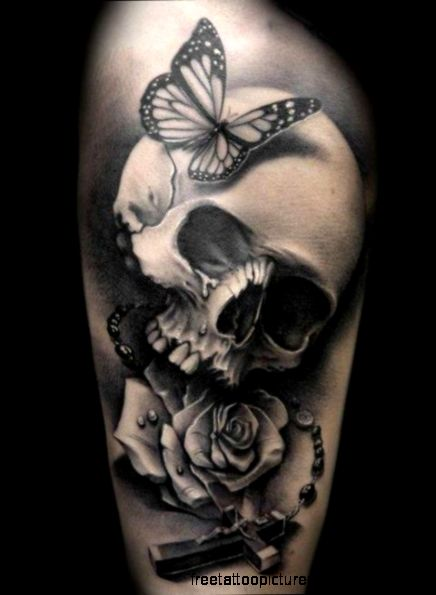 40 arm skull tattoos   Skullspiration