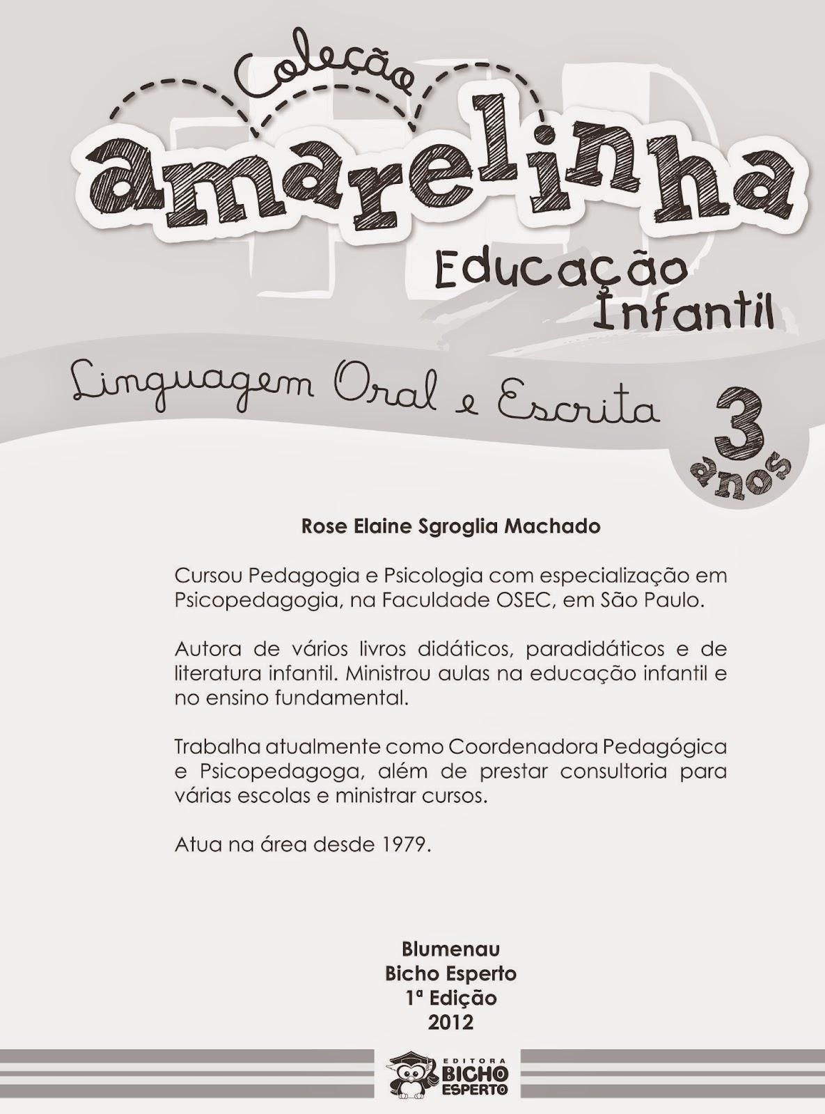 Preferência Aprender Brincando: Coleção Amarelinha Linguagem Oral e Escrita  RW42