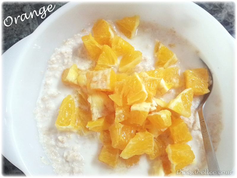 Oats with oranges