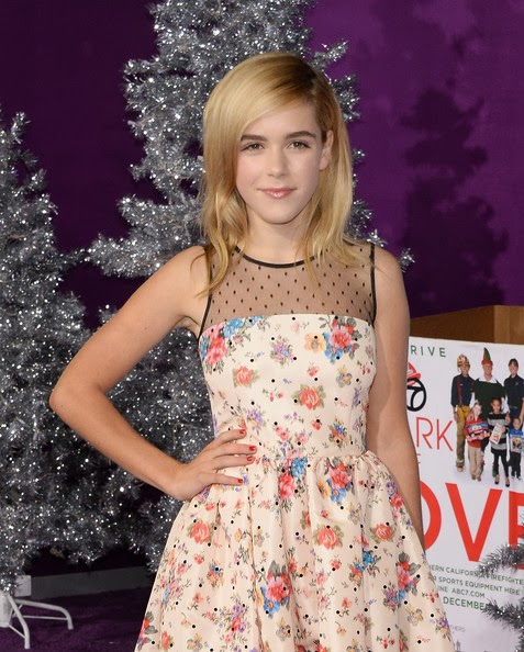 Kiernan Shipka Medium Layered Cut Hairstyle