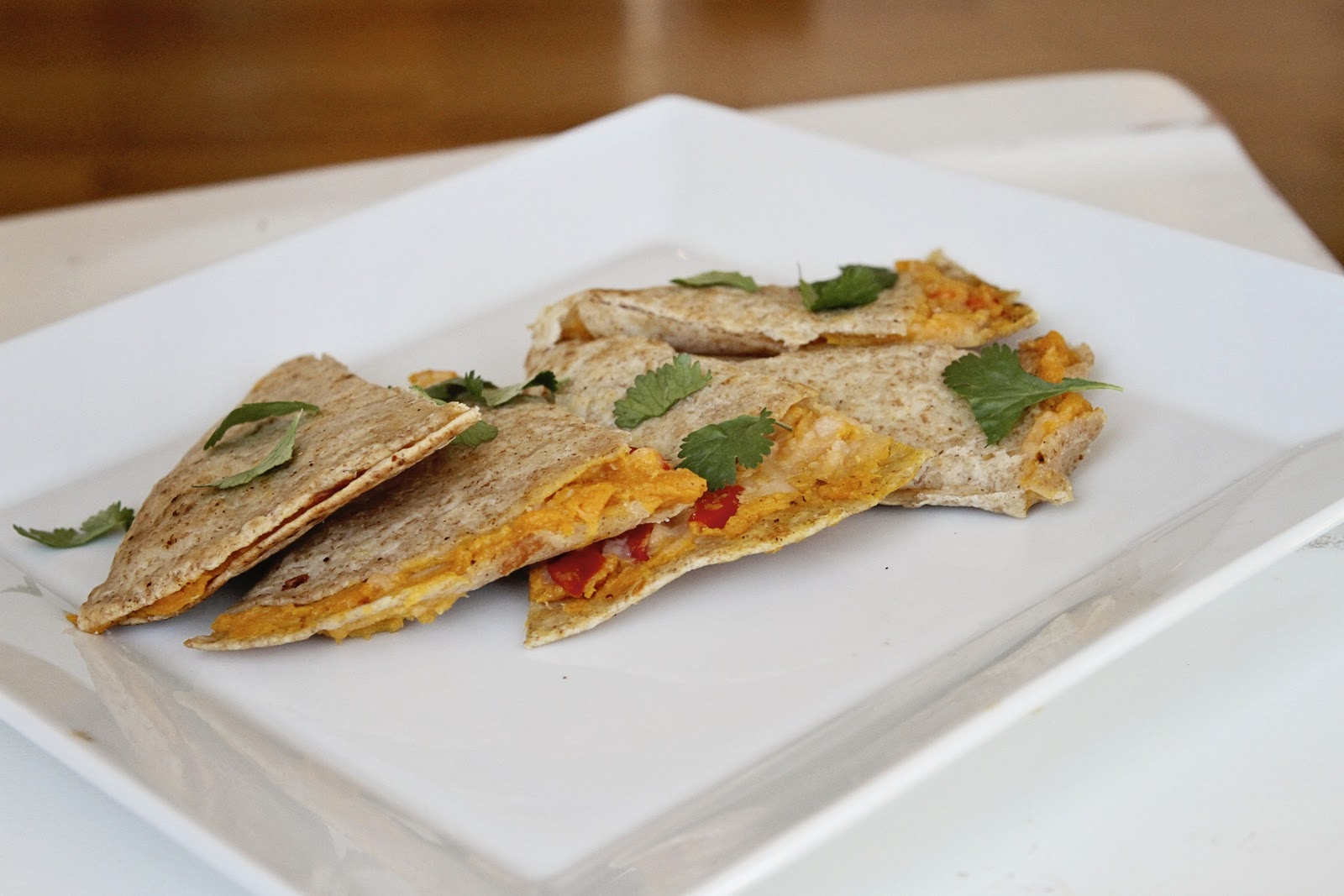 ... at Sunset: Butternut Squash, Red Pepper, & Jack cheese quesadilla