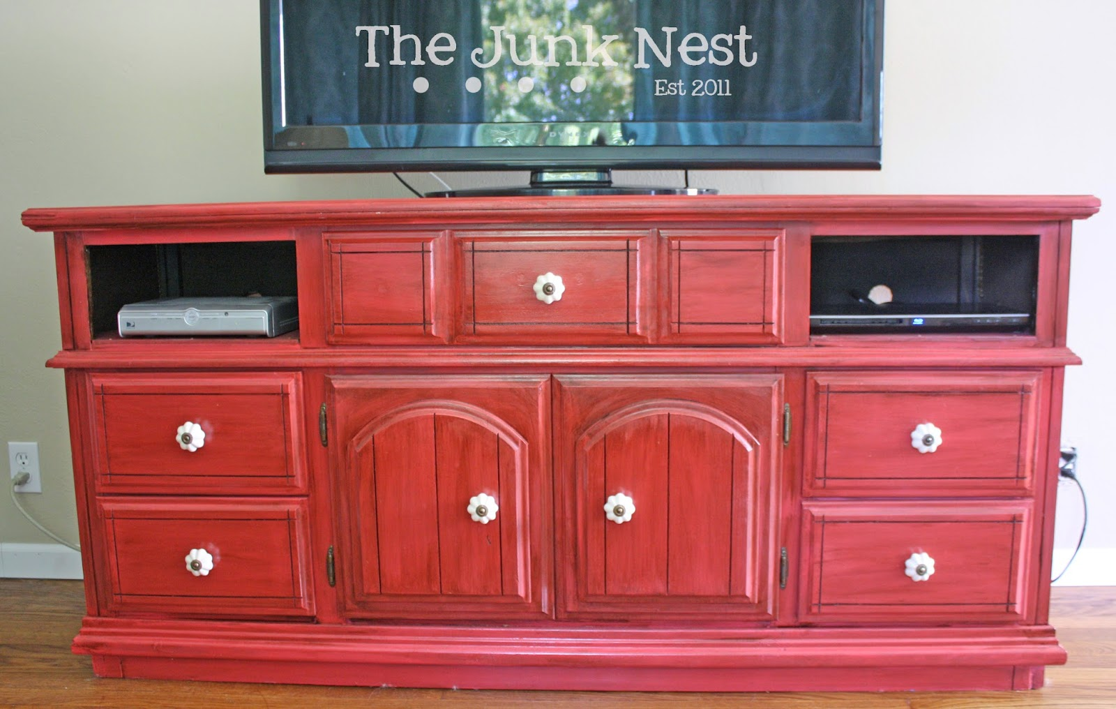 Red Painted Dresser
