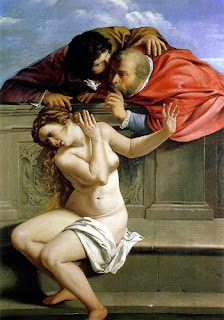 Susanna and the Elders by Artemisia Gentileschi violence and women