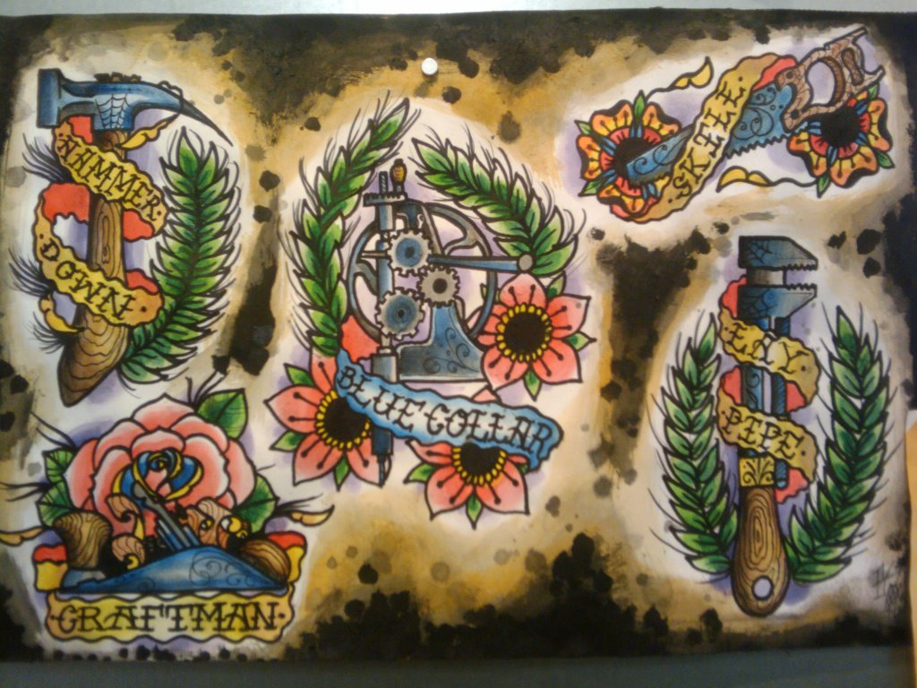 traditional tattoo flash wallpaper - photo #9