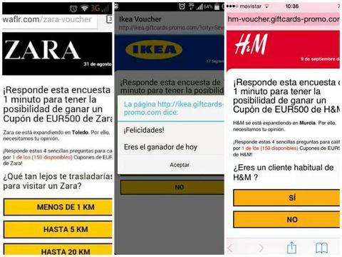 Ciberdelincuentes utilizan WhatsApp para distribuir tarjetas regalo falsas