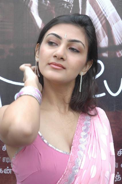 Actress Neelam Hot Pink Saree Blouse Photos