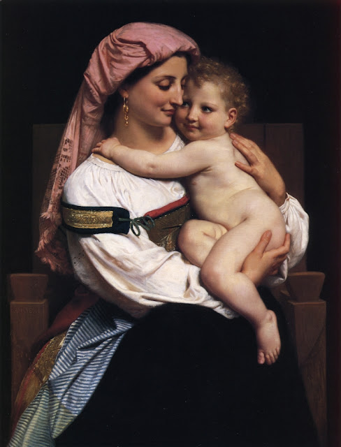 William Adolphe Bouguereau,Bouguereau,cute portrait