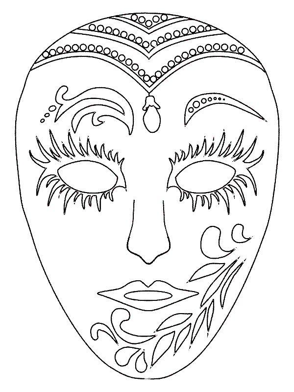 Máscaras variadas Mascara+de+Carnaval+para+colorir+(3)