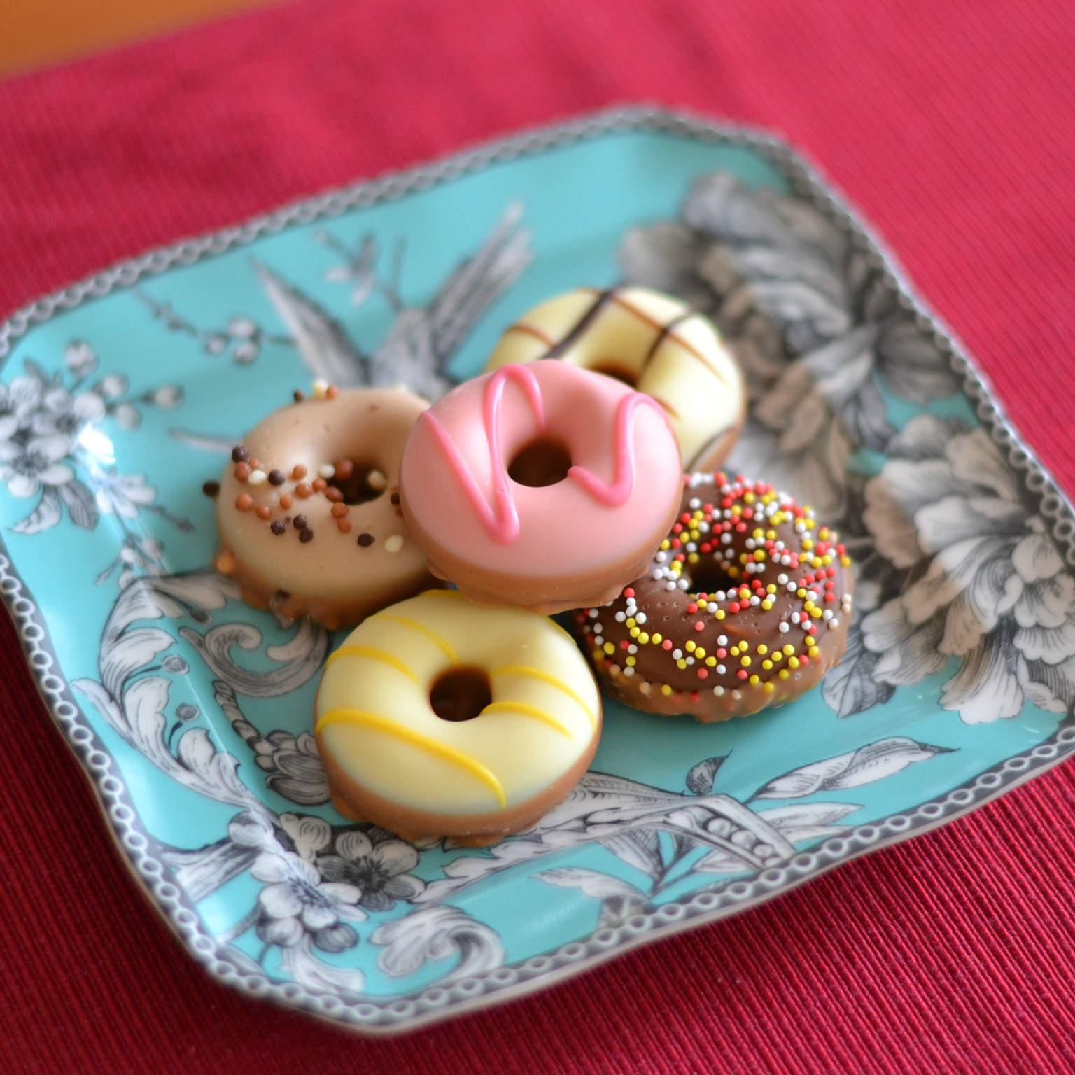 doughnut-shaped chocolates
