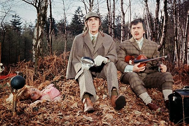 Peter Cook and Dudley Moore as Sherlock Holmes and Doctor Watson