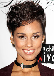 Hairstyles for short hair, Alicia Keys :