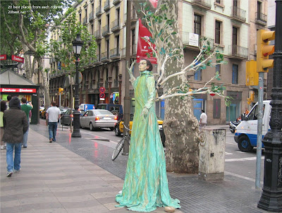 Wonder of La Rambla street latest photos 2012