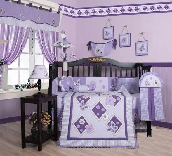 Fotos Dormitorios Para Bebs Mujercitas En Lila Decoracin
