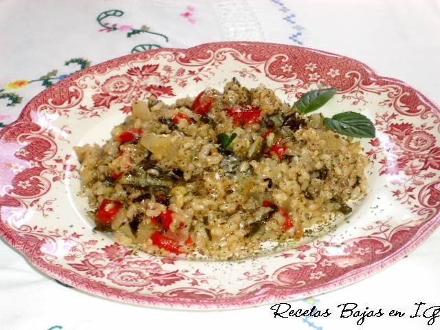 Recetas bajas en indice glucemico risotto con acelgas y - Risotto arroz integral ...