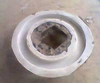 cetakan Silikon rubber untuk membuat handle tas dari resin bening
