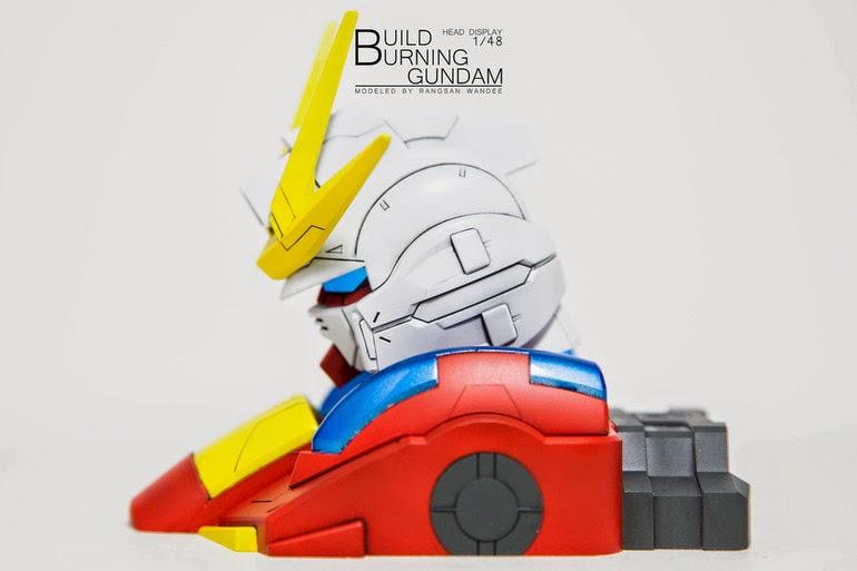 model kit head build burning gundam