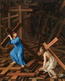 Pintura. El Alma cristiana acepta su cruz