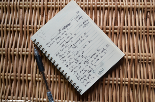 Flashback Summer: Season's Cleanings - the Index Card System - home maintenance and chore tips