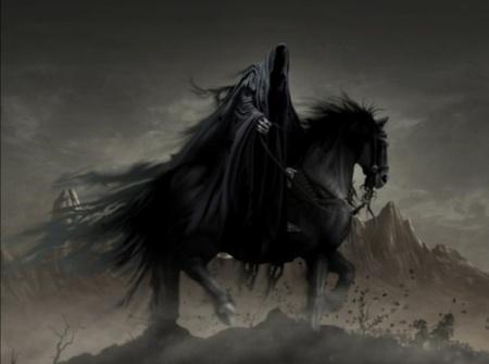 Cavalo negro da morte, cavaleiro negro apocalipse, cavaleiro da morte
