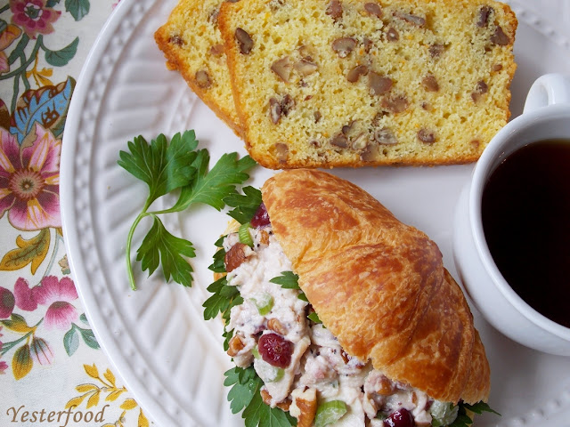 Cranberry Chicken Salad orange pecan bread Yesterfood