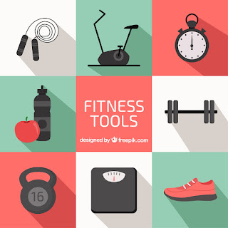 fitness tools ilustración, hacer deporte para liberar estrés freepik